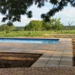 Swimming pool at the bush lodge